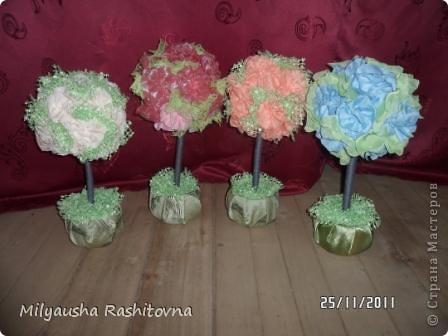 Эти деревья я смастерила для того, чтобы подарить на день матери участникам конкурса в моем клубе. фото 9