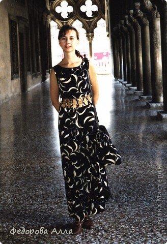 """В нем здорово было кружиться :).... Платье с юбкой-полусолнцем, вышитой аппликацией из замши. Сшито много лет назад, я и сейчас вполне могу его надеть, только... оно мне вроде как не совсем """"по возрасту""""... фото 5"""