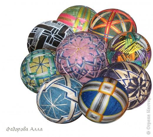 Мои темари, выполненные по урокам сайта http://temari.ru/ фото 1