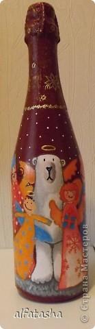 Бутылки, салфеточки, краски, стикеры... фото 8