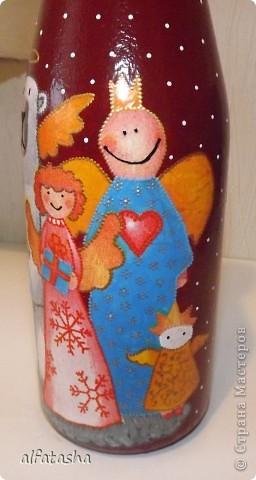 Бутылки, салфеточки, краски, стикеры... фото 10