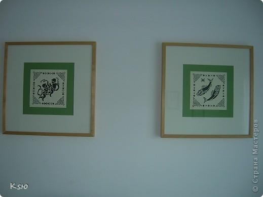 Такое панно украшает теперь мою кухню. Картинка всем хорошо знакома. Рамка - гофрокатрон от коробок, шпагат. фото 2