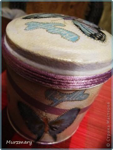 Бабочки вдохновили меня на такую вот баночку для чая: фото 3