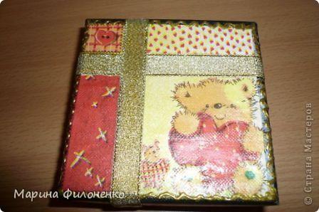 Маленькая коробочка  для себя любимой)))) Выполнена в технике декупаж, украшена тесьмой.  фото 1