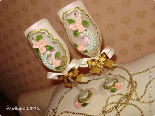 мои первые свадебные фужеры. вроде ничего,как вы думаете? фото 2