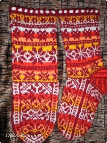 Теплые носки с орнаментом. Джурабы. фото 2