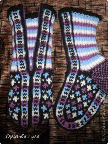Теплые носки с орнаментом. Джурабы. фото 3