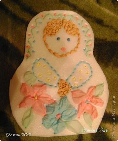 Эту матрёшечку делала моя 7 летняя дочурка фото 2