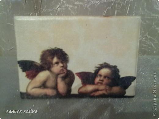 это бутылочка сделана для сыночка моего-на ней 7 ангелочков. фото 4