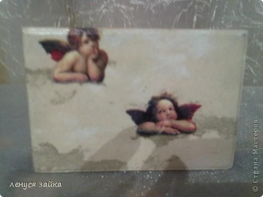 это бутылочка сделана для сыночка моего-на ней 7 ангелочков. фото 5