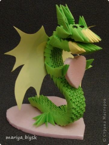Драконы модульное оригами фото 1