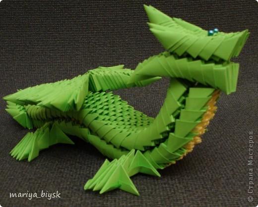 Драконы модульное оригами фото 2