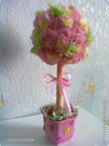 """Когда сделала эту шкатулочку https://stranamasterov.ru/node/255756  для моей любимой племянницы - крестницы, то захотелось еще """"вырастить"""" деревце в комнату юной леди :)) фото 6"""