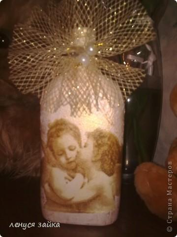 это бутылочка сделана для сыночка моего-на ней 7 ангелочков. фото 11
