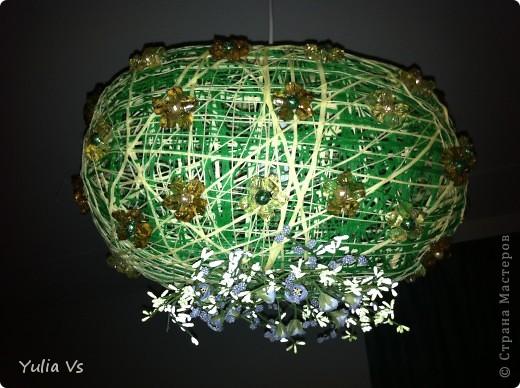 вот  такое  мы с мужем сотворили)конечно это из  ниток,и всякие  штучки-камешки ,цветочки фото 1
