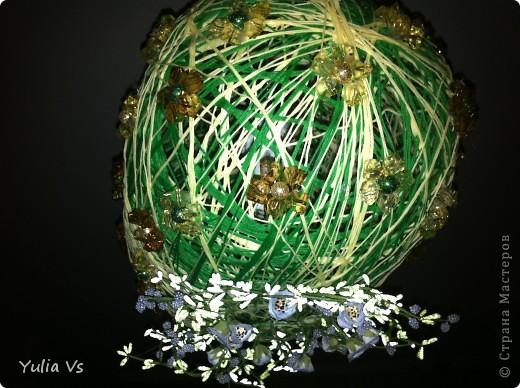 вот  такое  мы с мужем сотворили)конечно это из  ниток,и всякие  штучки-камешки ,цветочки фото 4