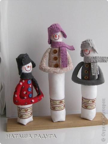 Вот такие три снеговичка получились у меня. фото 1