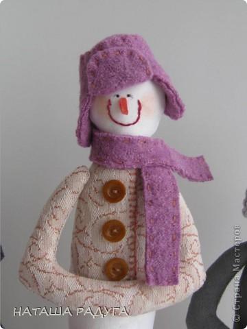 Вот такие три снеговичка получились у меня. фото 3