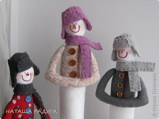 Вот такие три снеговичка получились у меня. фото 2