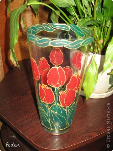 Была ваза простая,а стала красивая фото 2