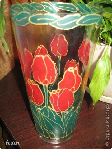 Была ваза простая,а стала красивая фото 1