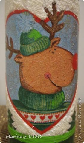 """Может кого и удивит название """"Набор"""", но набор он не по рисункам, а по технике. Сначала сделала детям новогоднюю конфетницу. А потом заказали сделать бутылку (отредактировано помощником). А когда все доделала, посмотрела и подумала: """"А почему не сделать набором?""""  фото 5"""