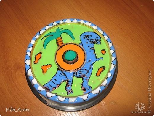 "Коробка для дисков ""Динозавр"" фото 1"
