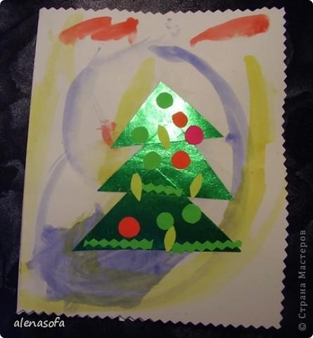 Вот такие новогодние открыточки мы с сынулей подготовили для бабушек и дядь. фото 2