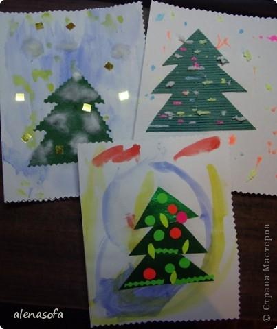 Вот такие новогодние открыточки мы с сынулей подготовили для бабушек и дядь. фото 1