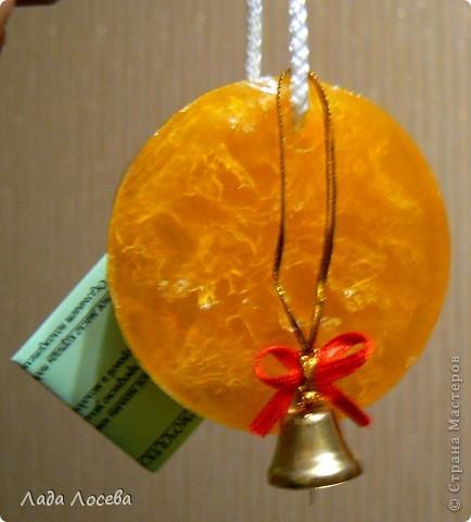 Мылко с люфой  ЭМ апельсин, корица Пальмовое масло колокольчик - украшение фото 1