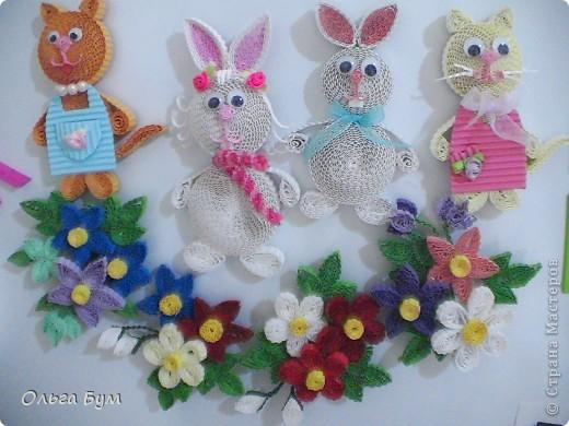 Сделали с детьми этих чудесных зайцев и кис, увидев их у Sahalin. Как увидела их - была в восторге. Долго собирались, и вот сделали на радость!Спасибо огромное за Ваших чудесных зверушек!  фото 13