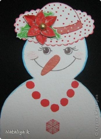 Дорогие мои!Поздравляю Вас с первым днём зимы и днём рождения Страны Мастеров!Принимайте пополнение в стройные ряды новогодних открыточек ))) фото 4