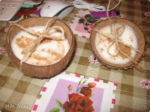 Свечи в кокосовой скорлупе
