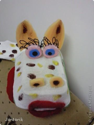 В этом году я продолжила учиться создавать кукол.На первом же занятии у меня получился вот такой почти жираф. Кукла одевается на руку... фото 4