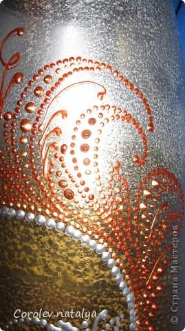 Доброго времени суток всем жителям СМ!!!! Представляю на ваш суд вазу,сделанную в подарок тетушке на 80-и летие!Сразу скажу- подарок очень понравился! фото 2
