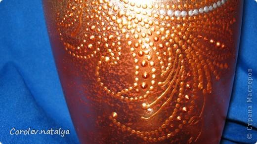 Доброго времени суток всем жителям СМ!!!! Представляю на ваш суд вазу,сделанную в подарок тетушке на 80-и летие!Сразу скажу- подарок очень понравился! фото 3