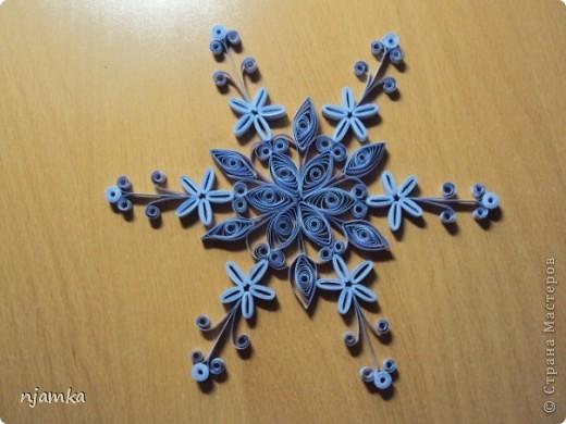 Снежинки (квиллинг) фото 5