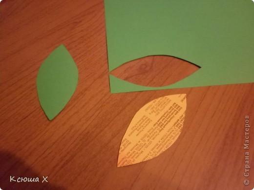 Материалы для работы: гофрированная бумага желтого, белого, зеленого и черного цвета, клей ПВА, ножницы, двусторонняя зеленая бумага, шаблоны для серединки подсолнуха и листа, картон  фото 11