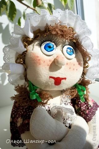 Вот и моя куклёша, шила в подарок сестре.   Кукла-пакетница.  фото 4