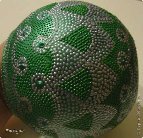 Вазочка в контурной росписи. Серый контур Декола, зеленый таировский, (называется, почувствуй разницу), рисунок из головы фото 2