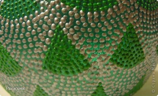 Вазочка в контурной росписи. Серый контур Декола, зеленый таировский, (называется, почувствуй разницу), рисунок из головы фото 3