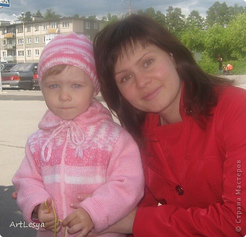 Кофточка с капюшоном и шапочка для моей любимой племяшки))   фото 1