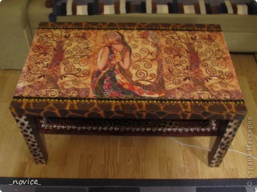 Икейский столик немножко преобразился фото 1