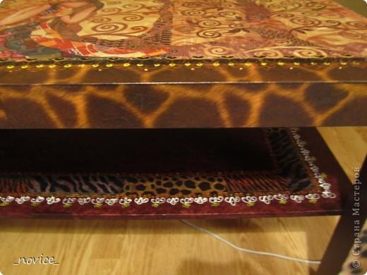 Икейский столик немножко преобразился фото 3