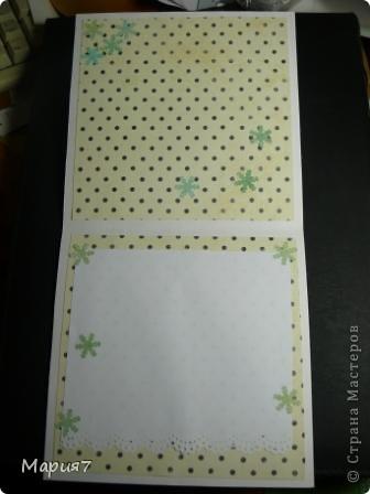 Данная открытка делалась для конкурса надо было лифтить Агнешку. (http://agnieszka-scrappassion.blogspot.com/2011/10/kartki-swiateczne_14.html) Вначале мне показалось, что это очень легкое задание - ну что тут такого просто скопировать чужую открытку, но на деле оказалось, что это не так. Помучилась я изрядно с этим заданием. И в итоге вышло нечто мало похожее на исходную. Но что-то отдаленно напоминающее мне кажется все-таки есть:) Вот что вышло у меня - фото представлены при разных освещениях, потому как дневное я застать к сожалению не могу. фото 5
