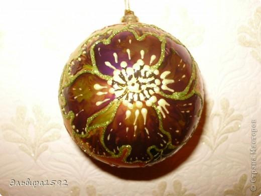 """новогодние шарики,""""цветы"""" фото 1"""
