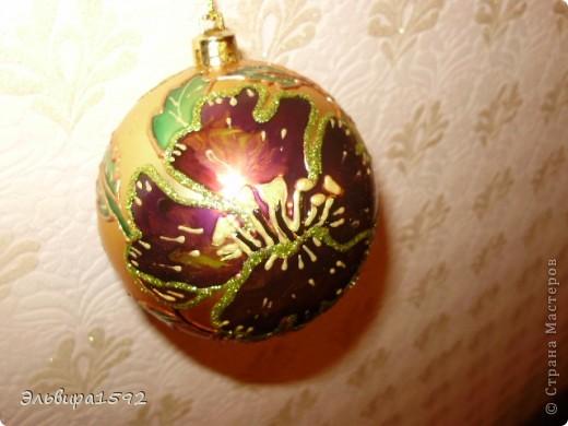 """новогодние шарики,""""цветы"""" фото 3"""