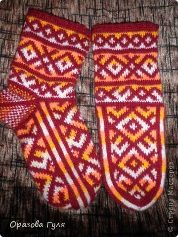 Теплые носки с орнаментом. Джурабы. фото 6