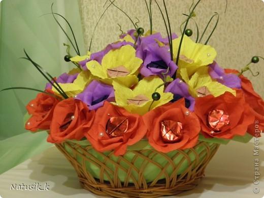 Корзиночка, 33 цветочка. фото 1