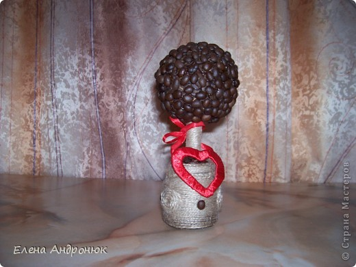 Кофейное дерево, подарок на деревянную свадьбу (5 лет) фото 1